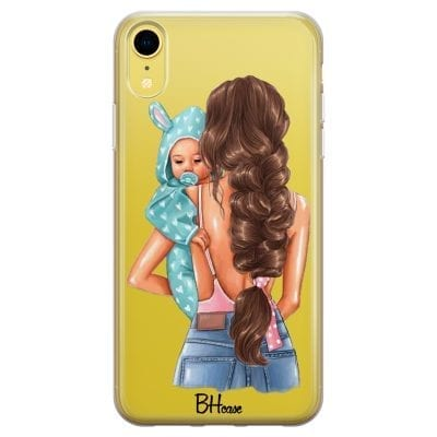 Mother Brunette With Boy Case iPhone XR