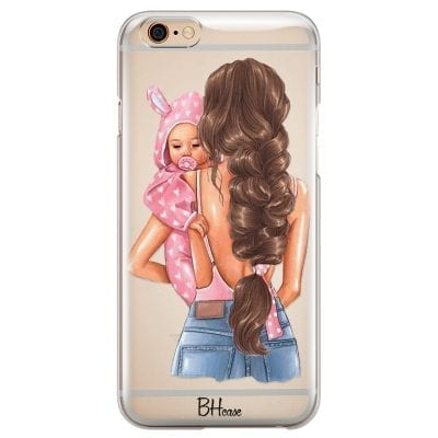 Mother Brunette With Girl Case iPhone 6 Plus/6S Plus