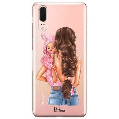 Mother Brunette With Girl Case Huawei P20