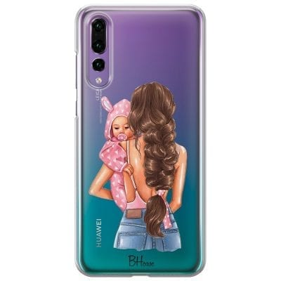 Mother Brunette With Girl Case Huawei P20 Pro