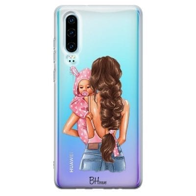 Mother Brunette With Girl Case Huawei P30
