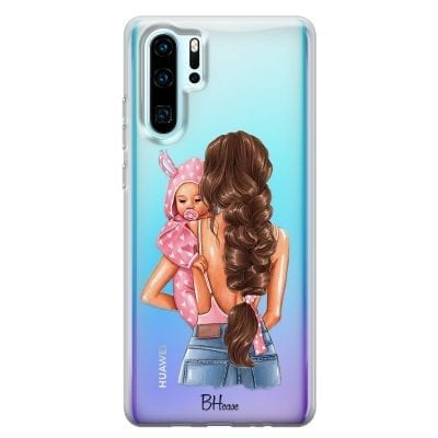 Mother Brunette With Girl Case Huawei P30 Pro