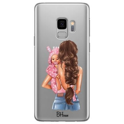 Mother Brunette With Girl Case Samsung S9