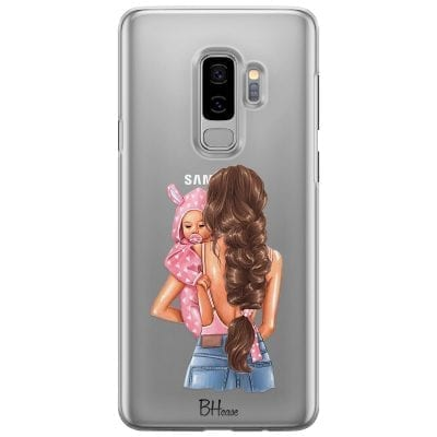 Mother Brunette With Girl Case Samsung S9 Plus