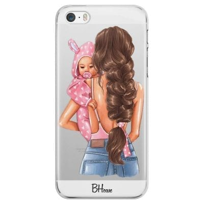 Mother Brunette With Girl Case iPhone SE/5S