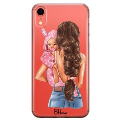 Mother Brunette With Girl Case iPhone XR