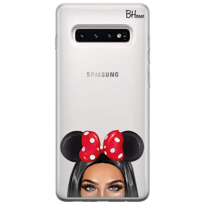 Black Haired Girl With Ribbon Case Samsung S10