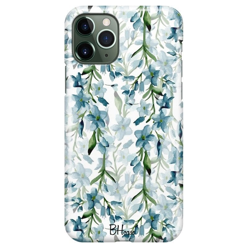 Blue Flowers Watercolor Case iPhone 11 Pro