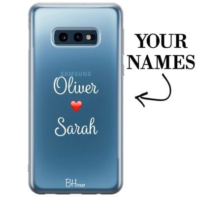 Case with double name for Samsung S10e