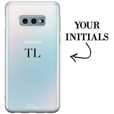 Case with initials for Samsung S10e