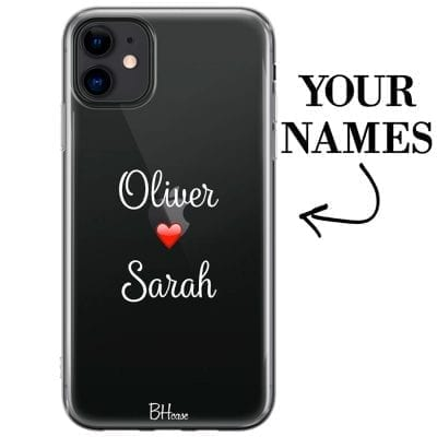 Case with double name for iPhone 11