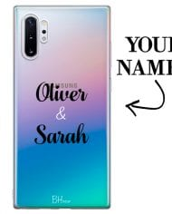 Case with double name for Samsung Note 10 Plus