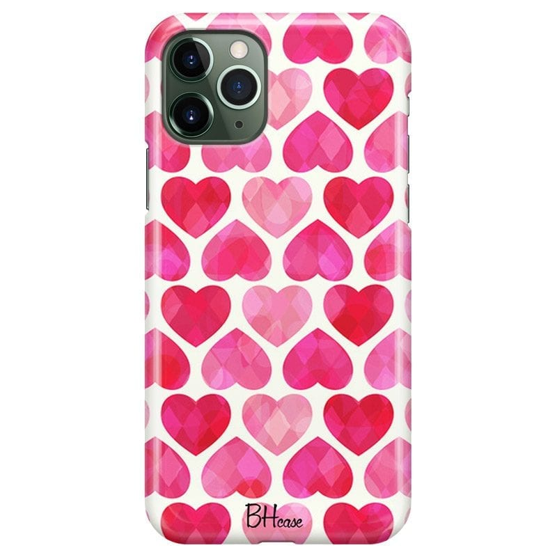 Hearts Pink Case iPhone 11 Pro