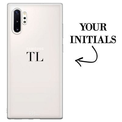 Case with initials for Samsung Note 10 Plus