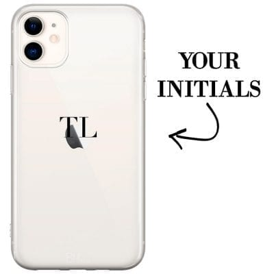 Case with initials for iPhone 11
