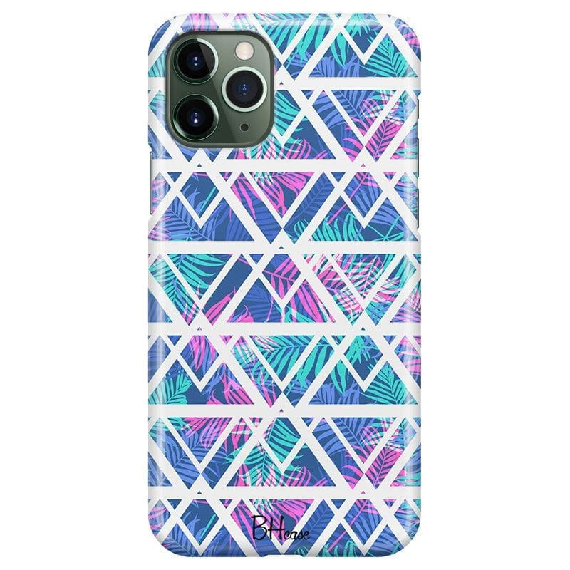 Leaves Geometric Pattern Case iPhone 11 Pro