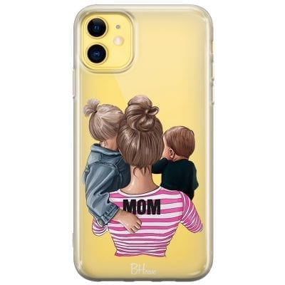 Mom Of Boy And Girl Case iPhone 11
