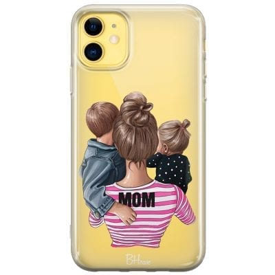 Mom Of Girl And Boy Case iPhone 11