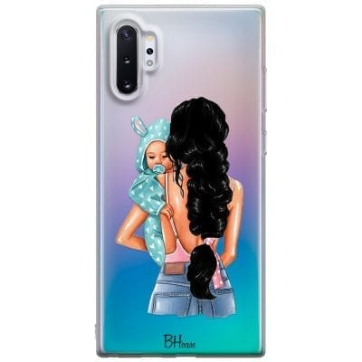 Mother Black Haired With Boy Case Samsung Note 10 Plus