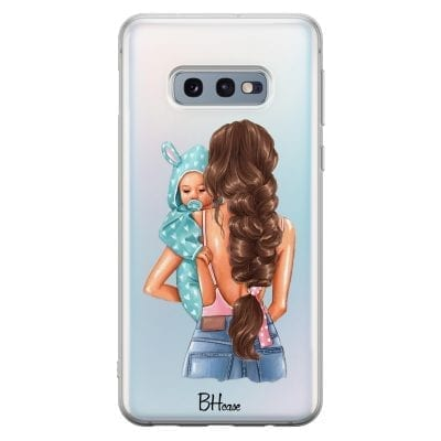 Mother Brunette With Boy Case Samsung S10e