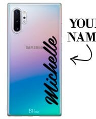 Case with vertical name for Samsung Note 10 Plus