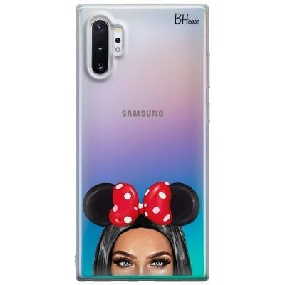 Black Haired Girl With Ribbon Case Samsung Note 10 Plus