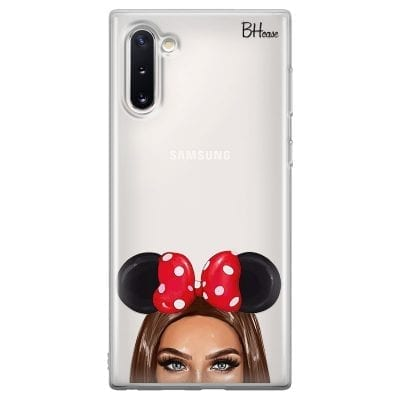 Brunette Girl With Ribbon Case Samsung Note 10