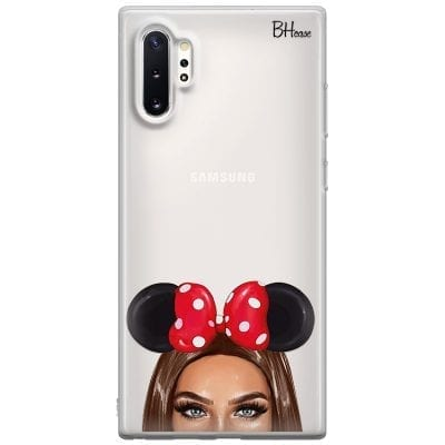 Brunette Girl With Ribbon Case Samsung Note 10 Plus