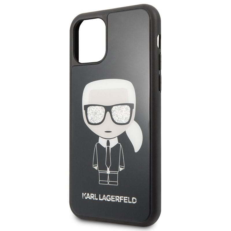 Karl Lagerfeld Glitter Iconic Body Black Case iPhone 11 Pro