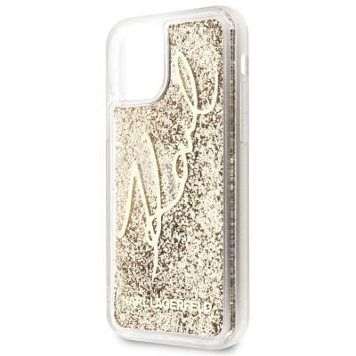 Karl Lagerfeld Glitter Signature Case iPhone 11