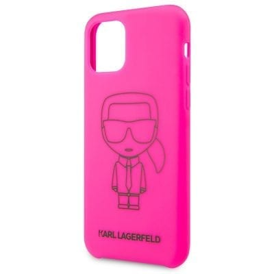 Karl Lagerfeld Silicone Black Out Pink Case iPhone 11