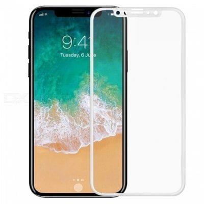 Full 3D Tempered Glass White iPhone XS Max