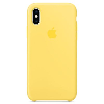 Apple Canary Yellow Silicone Case iPhone XS