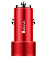 Baseus USB Type C Car Charger Red