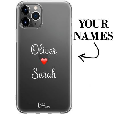 Case with double name for iPhone 11 Pro Max