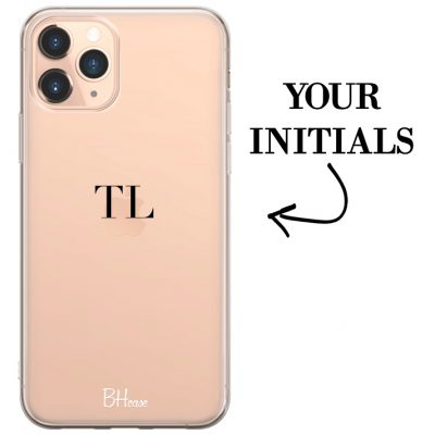 Case with initials for iPhone 11 Pro