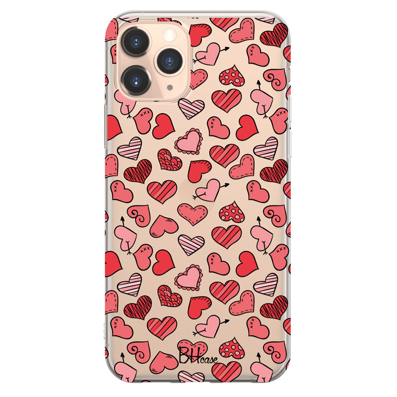 Hearts Red Case iPhone 11 Pro Max