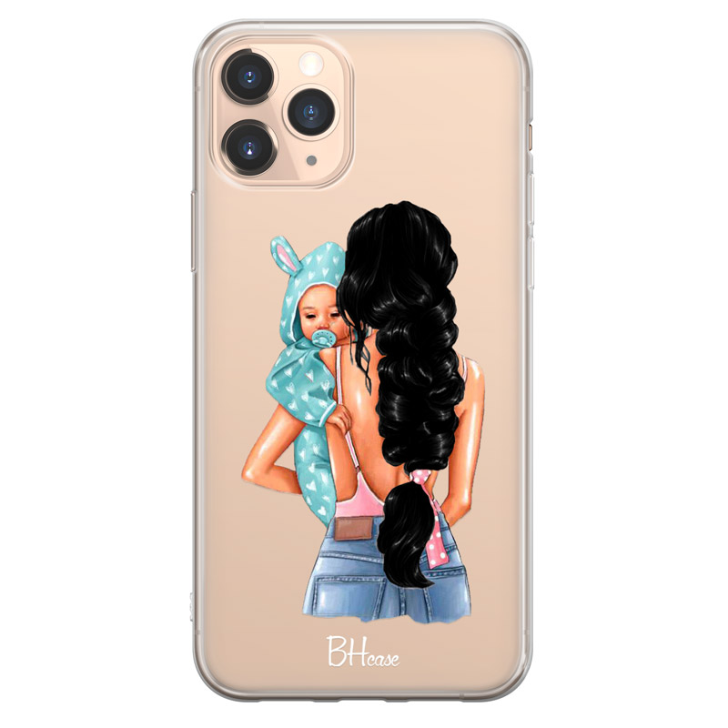 Mother Black Haired With Boy Case iPhone 11 Pro Max