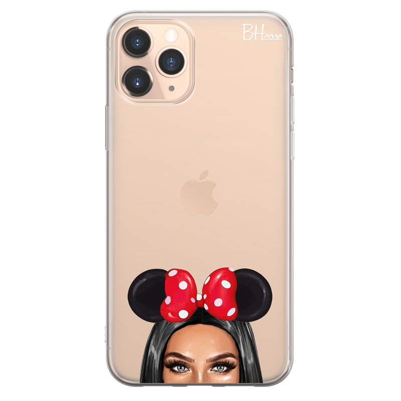 Black Haired Girl With Ribbon Case iPhone 11 Pro Max