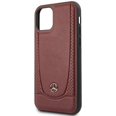 Mercedes Perforation Leather Red Case iPhone 11