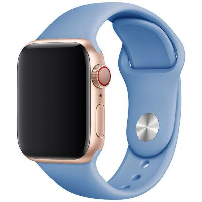 Silicone Band Apple Watch 42/44mm Cornflower Blue Large
