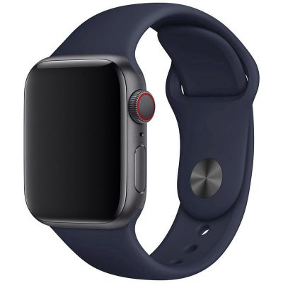 Silicone Band Apple Watch 42/44mm Midnight Blue Large