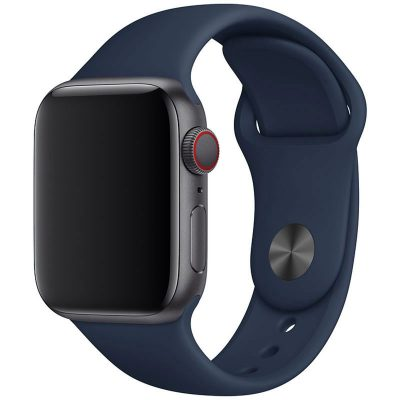 Silicone Band Apple Watch 42/44mm Medieval Blue Large