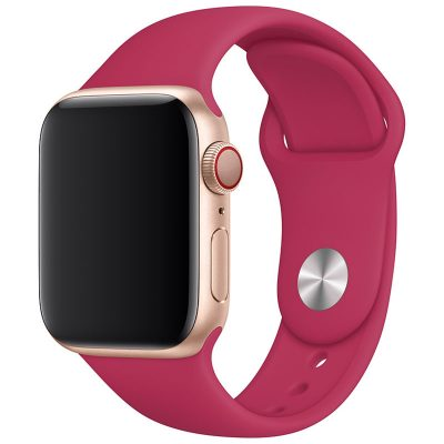 Silicone Band Apple Watch 42/44mm Pomegranate Large