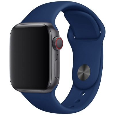 Silicone Band Apple Watch 42/44mm Cobalt Blue Large