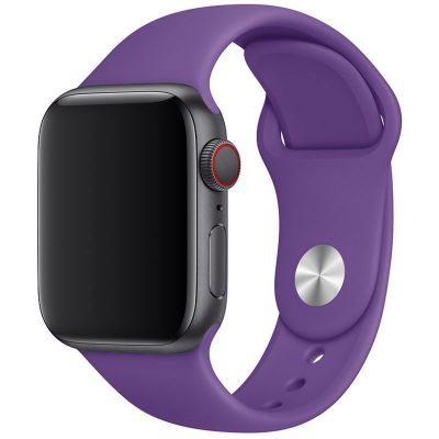 Silicone Band Apple Watch 42/44mm Deep Purple Large