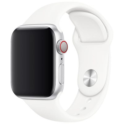Silicone Band Apple Watch 42/44mm White Large