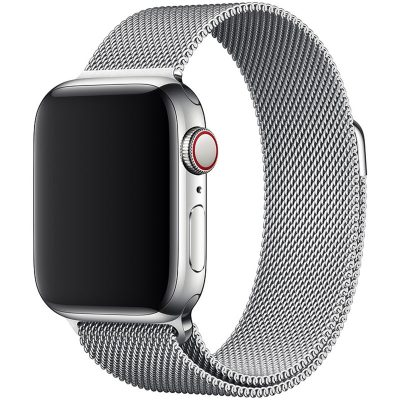 Milanese Loop Band Apple Watch 42/44mm Silver