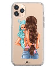 Mother Brunette With Boy Case iPhone 11 Pro Max
