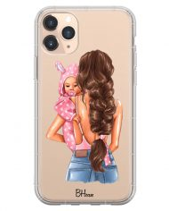 Mother Brunette With Girl Case iPhone 11 Pro Max